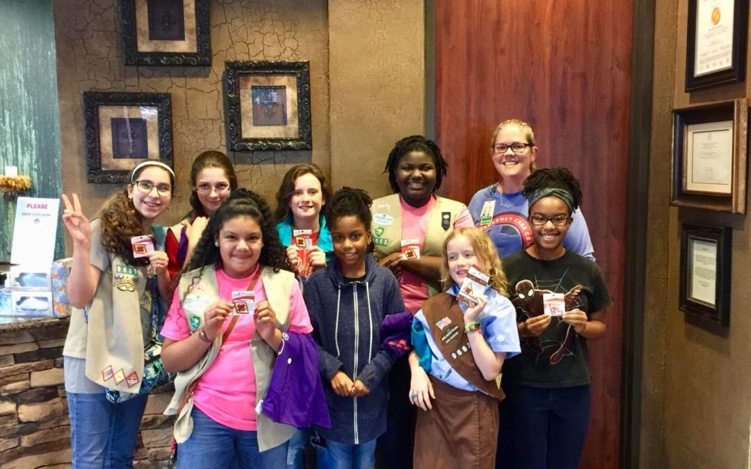 Girl Scout Troop 9663 Visits TECC