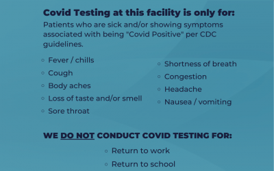 Covid Testing In Atascocita and Pearland
