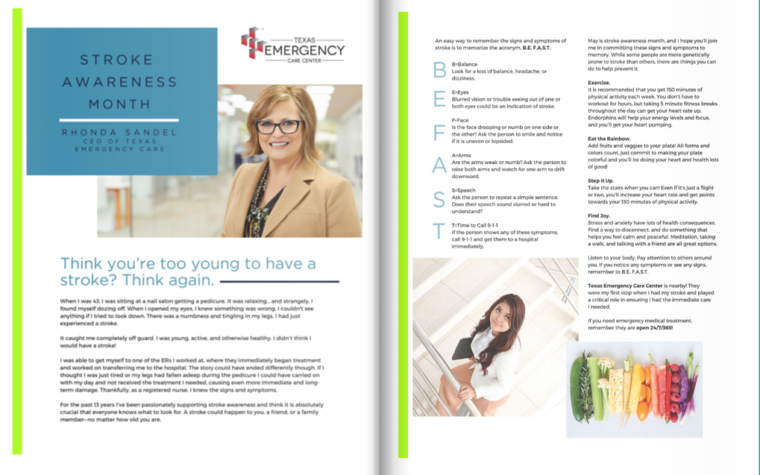 Rhonda Sandel featured in Pearland's Healthy Life Newsletter